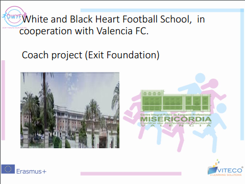 White and Black Heart Football School